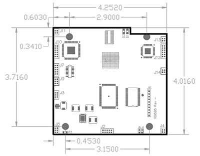 DVIgrabber Board Dimensions Diagram