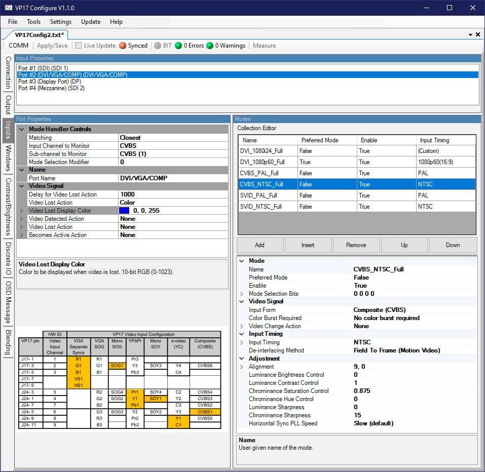 Multi Mode Window - VP17